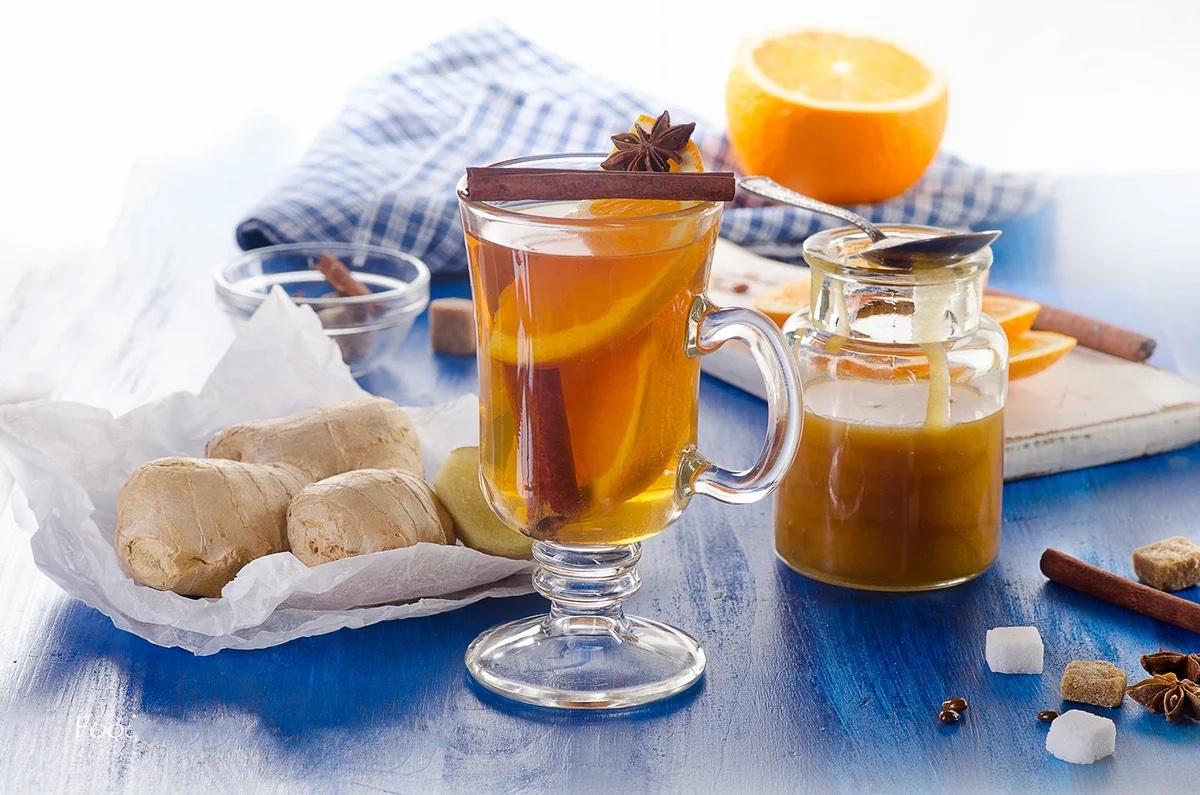 Апельсиново-имбирный чай