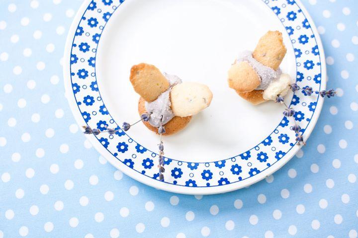 Лавандовый бисквит