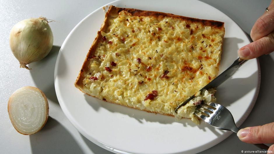 Немецкий луковый пирог без дрожжей