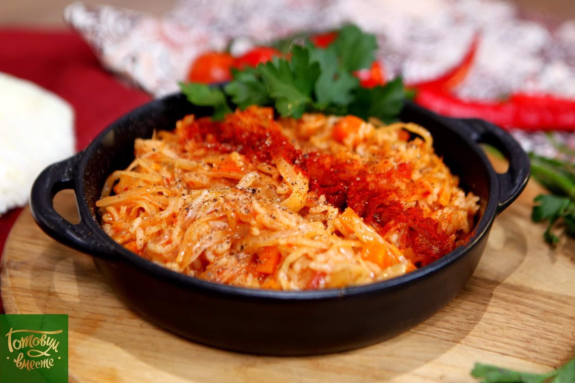 Лаханоризо (тушеная капуста с рисом)