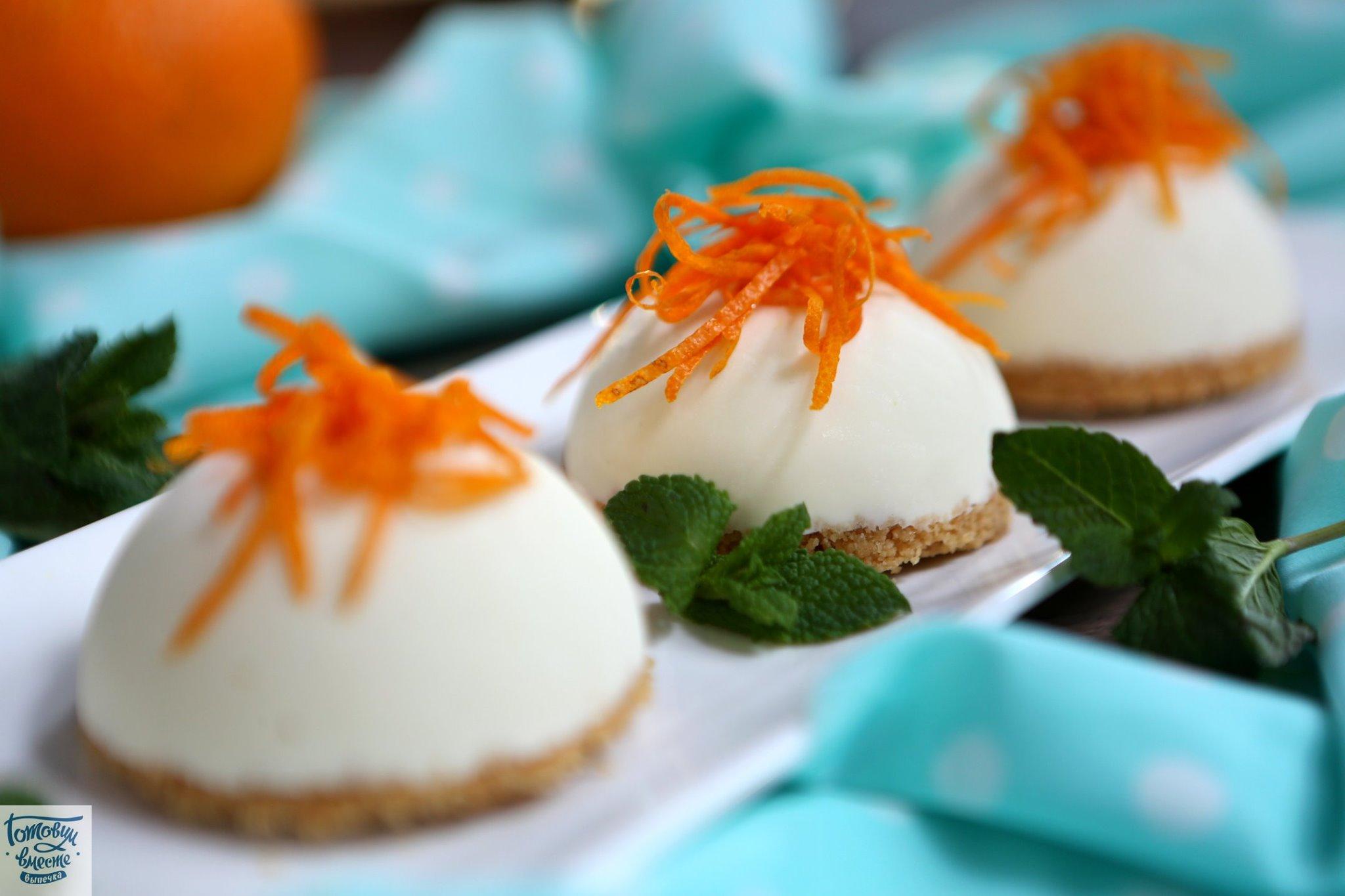 Апельсиновый чизкейк-мороженое