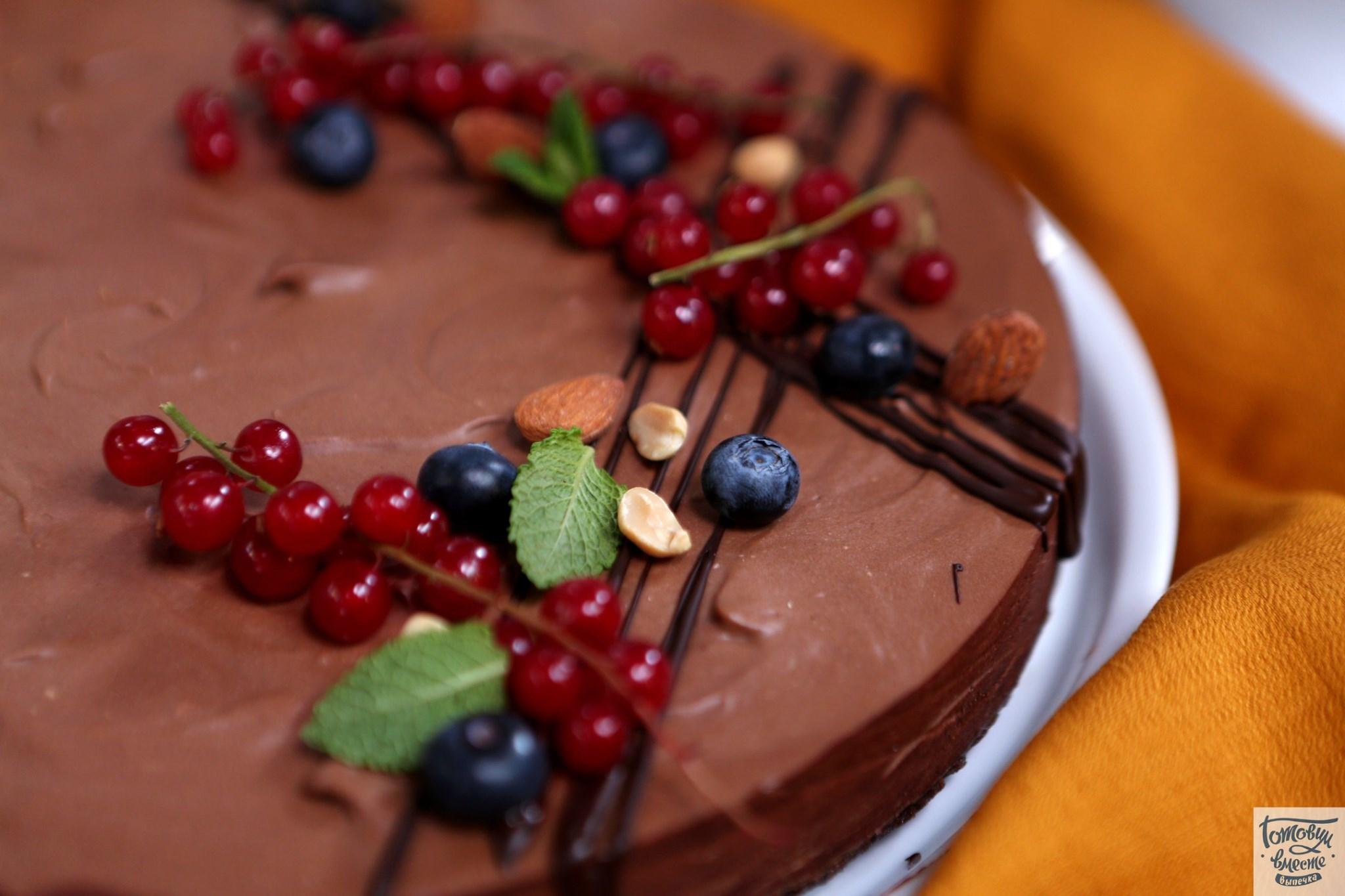 Шоколадный чизкейк без выпекания