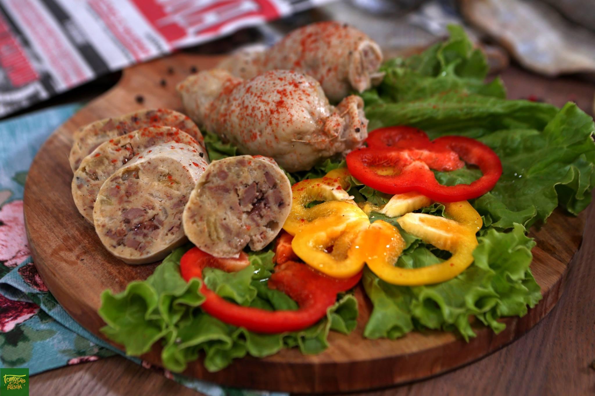 Фаршированные куриные шейки (гефилте гелзеле)