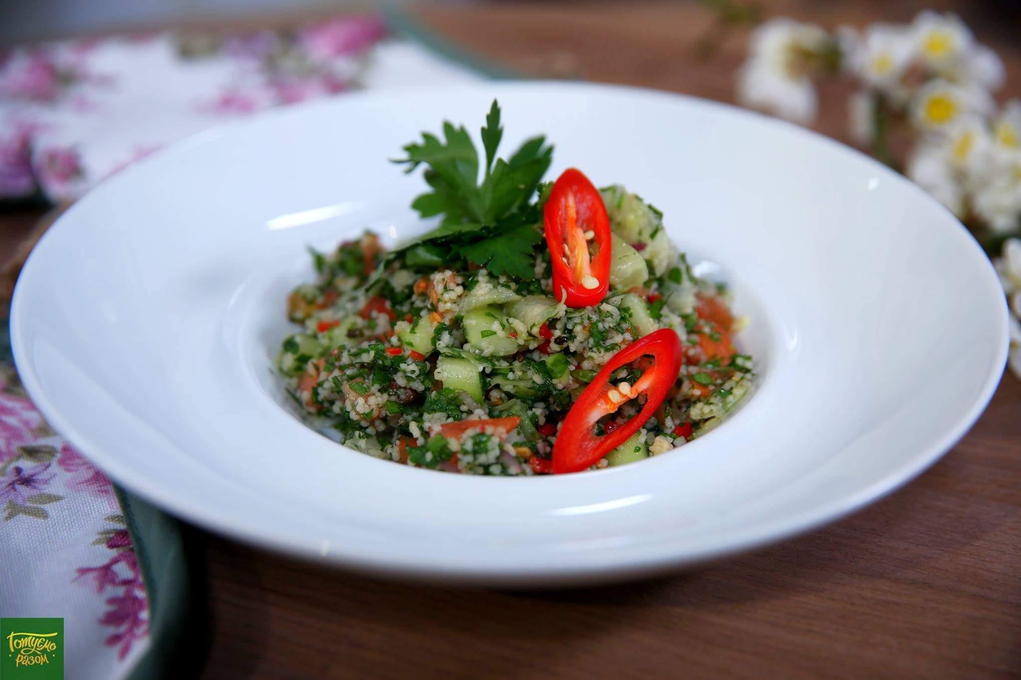 Салат Табуле с кус-кусом и овощами