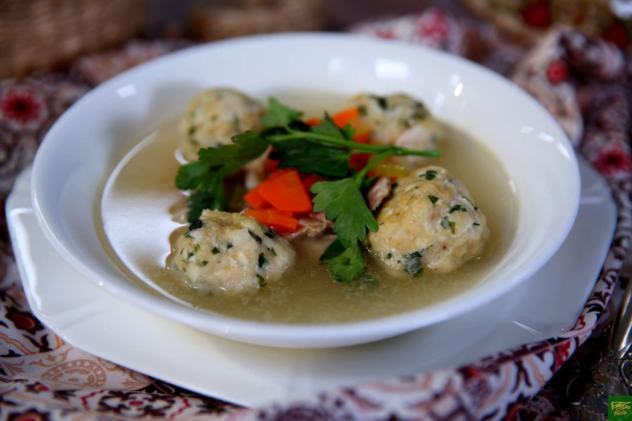 Суп Маца-болс