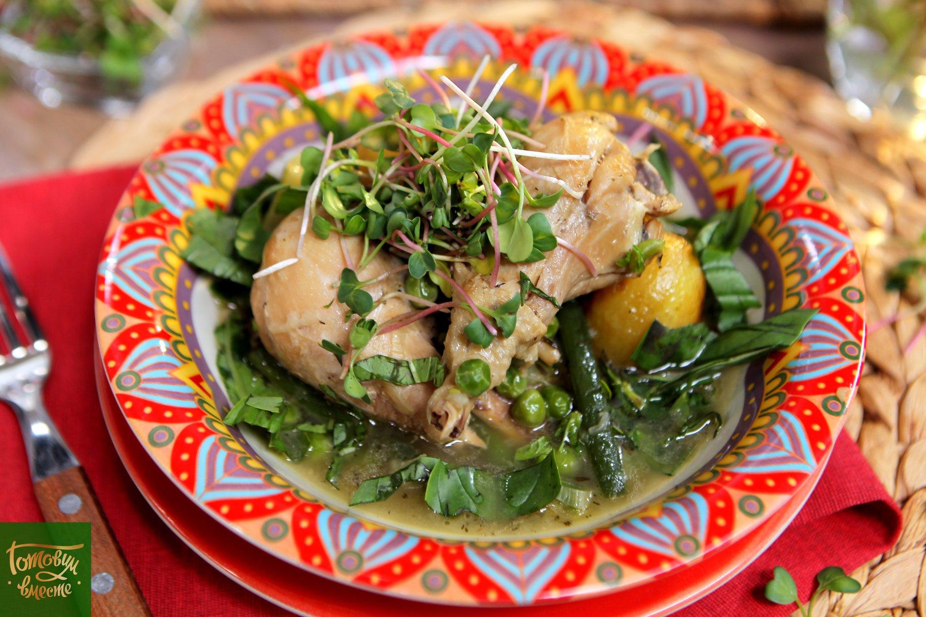 Рагу из куриных ножек с овощами