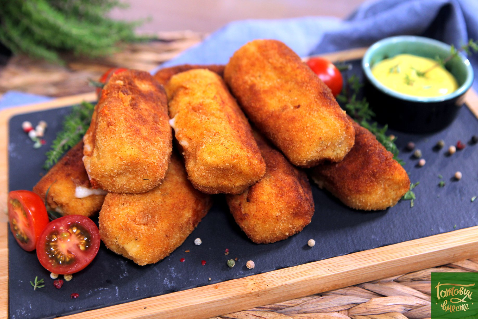 Картофельные трубочки с моццареллой