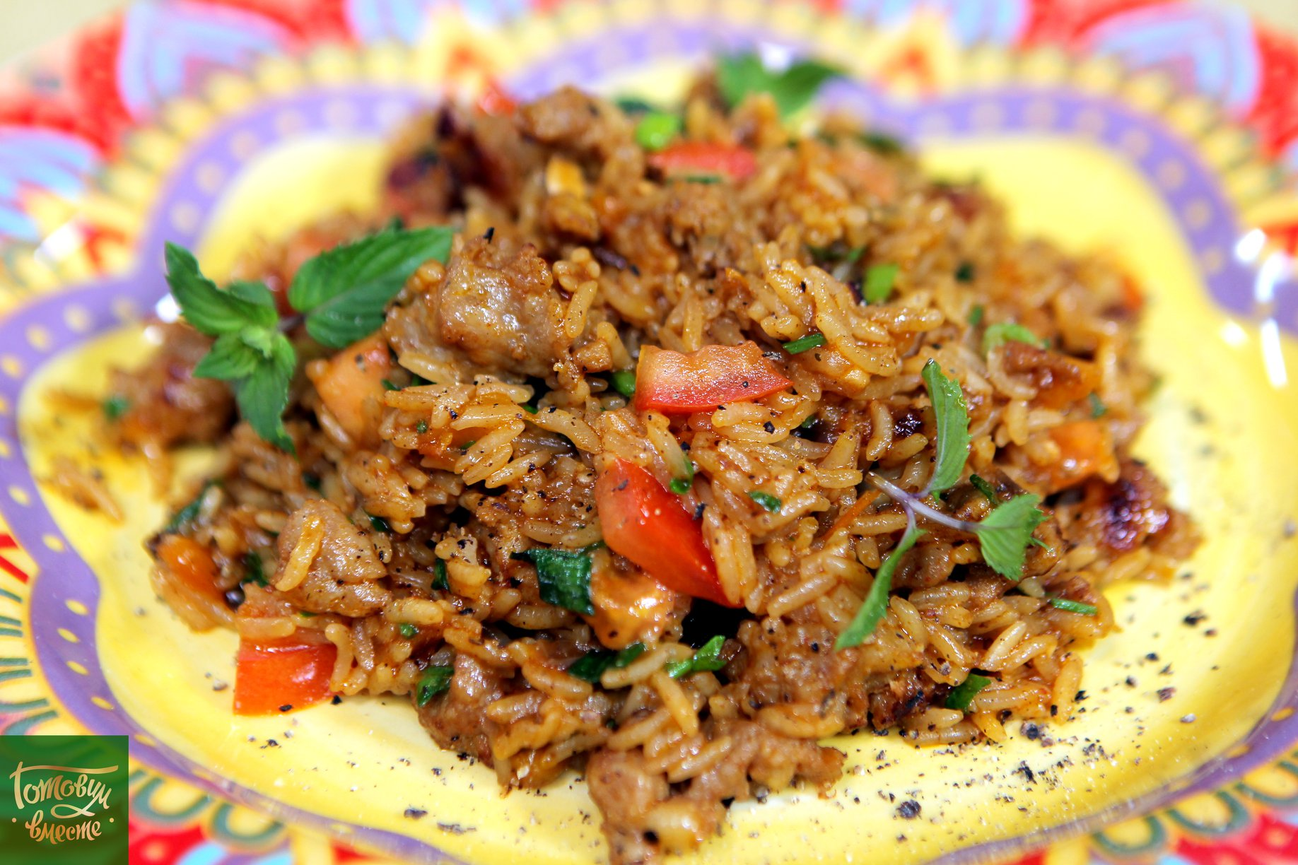 Рис с колбасками по рецепту Гордона Рамзи