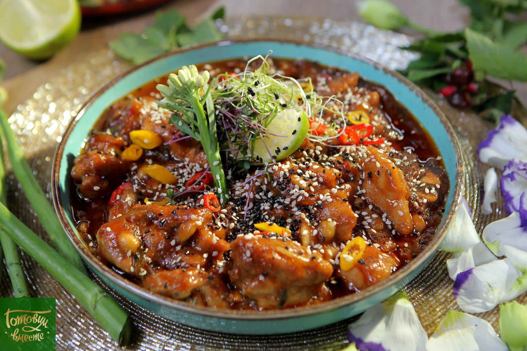Курица Кунг Пао с рисом