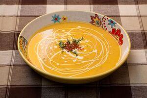 Норвежский суп из семги с красной икрой