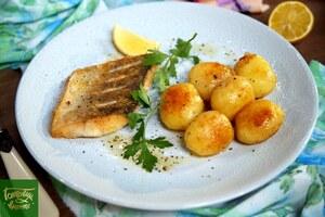 Филе судака с лимонным картофелем