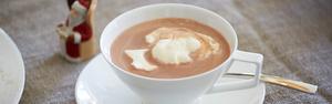 Горячий шоколад с перцем чили и сливками