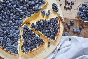 Пирог с голубикой
