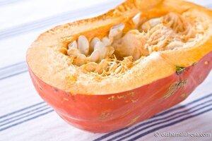 Тыквенный суп с картофелем и красным перцем