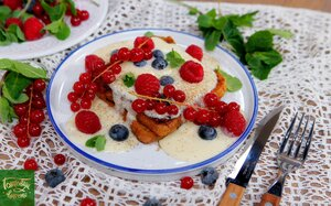 Французские тосты с ванильным соусом