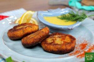 Картофельные котлетки с сардинами