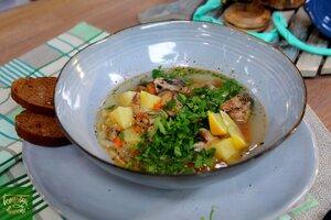 Овощной суп с сардинами