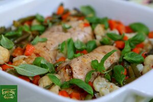 Рулетики из куриного филе с овощами