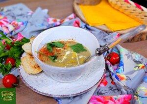 Суп из печеных баклажанов