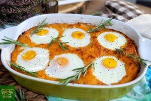 Картофельная запеканка с куриным филе, яйцами и сыром
