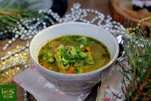 Куриный суп с галушками
