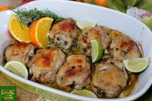 Куриные бедра с цитрусовыми