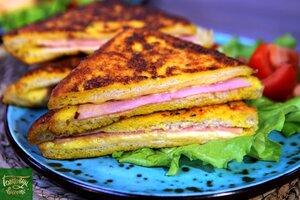 Сэндвичи Монте-Кристо с ветчиной и сыром