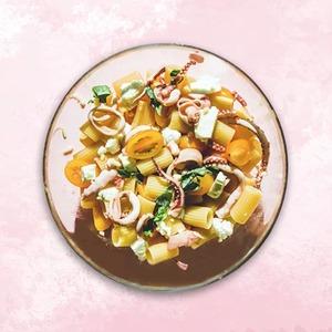 Паста с морепродуктами и фетой