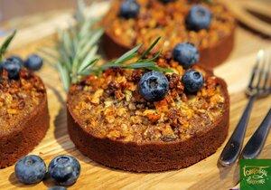 Шоколадные мини-тарты с грецкими орехами