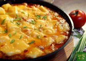 Картофельные ньокки с говядиной и сыром