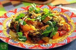 Индийское овощное рагу Сабджи с паниром