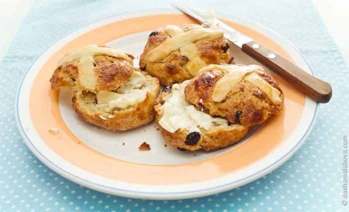 Английские булочки hot cross buns