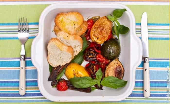 Вегетарианский шашлык с мини-овощами