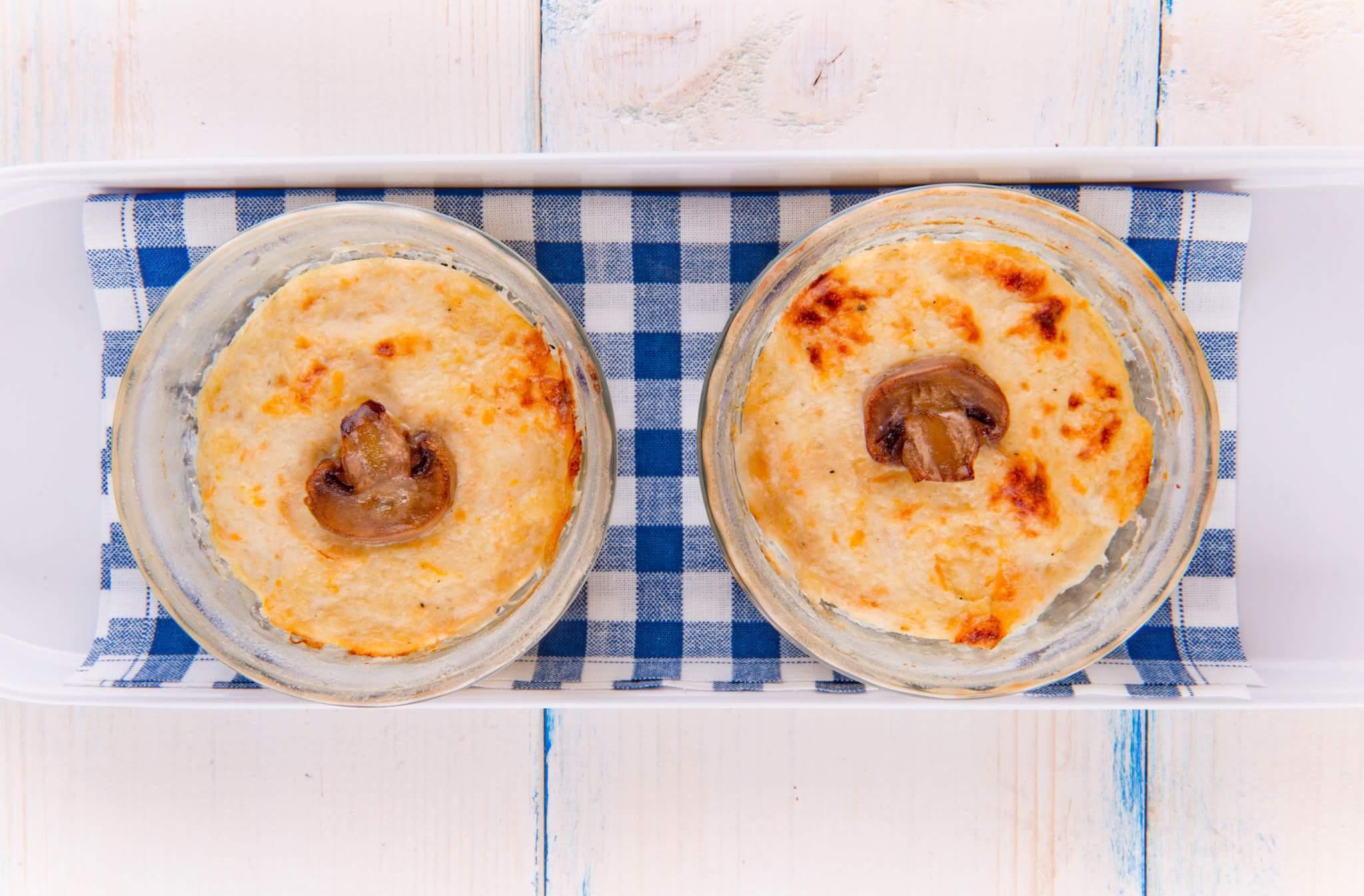 Куриное суфле с сыром и сметаной