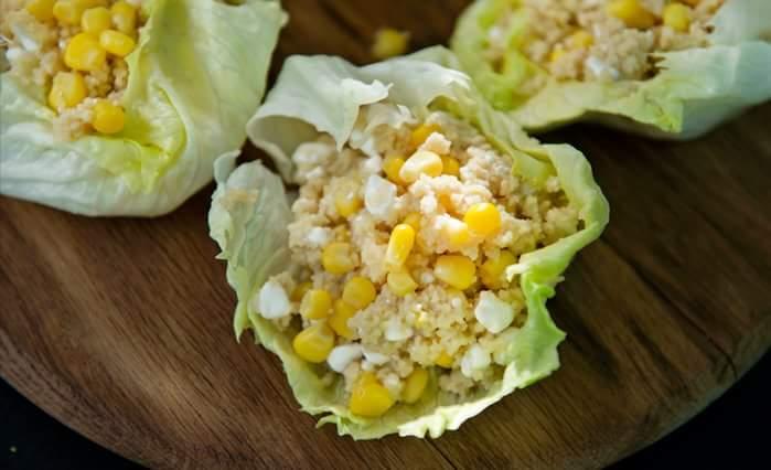 Студенческий салат с творогом и кускусом