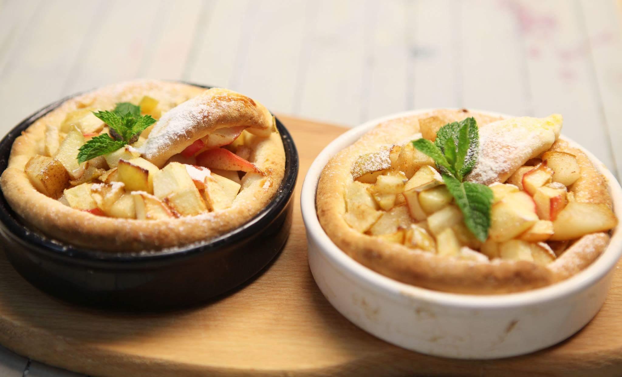 Мини-пироги с яблоком и грушей