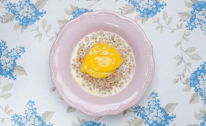 Рецепт Молочная каша с лимонным курдом