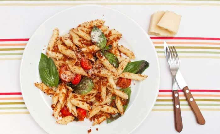 Рецепт Паста с хлебными крошками