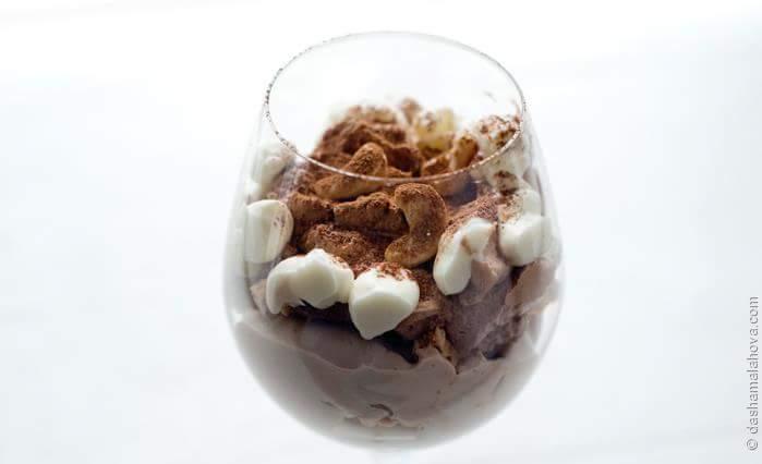 Рецепт Десерт а-ля «Киевский торт»