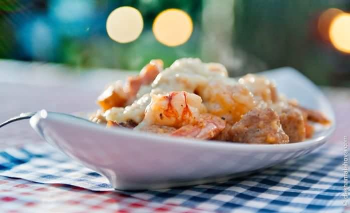 Рецепт Традиционные креветки Южной Каролины с кукурузной кашей
