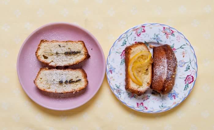 Рецепт Лимонный и лавандовый кексы
