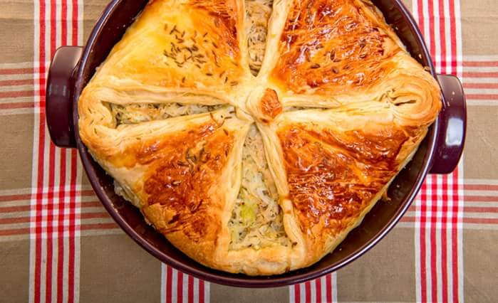 Рецепт Неделя Октоберфеста: Пирог с квашеной капустой