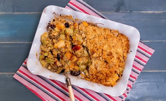 Рецепт Неделя тыквы: Овощной крамбл с тыквой