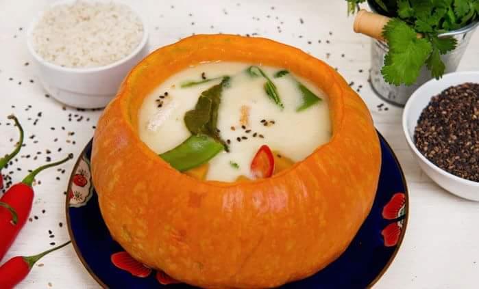 Тайский кокосово-тыквенный суп