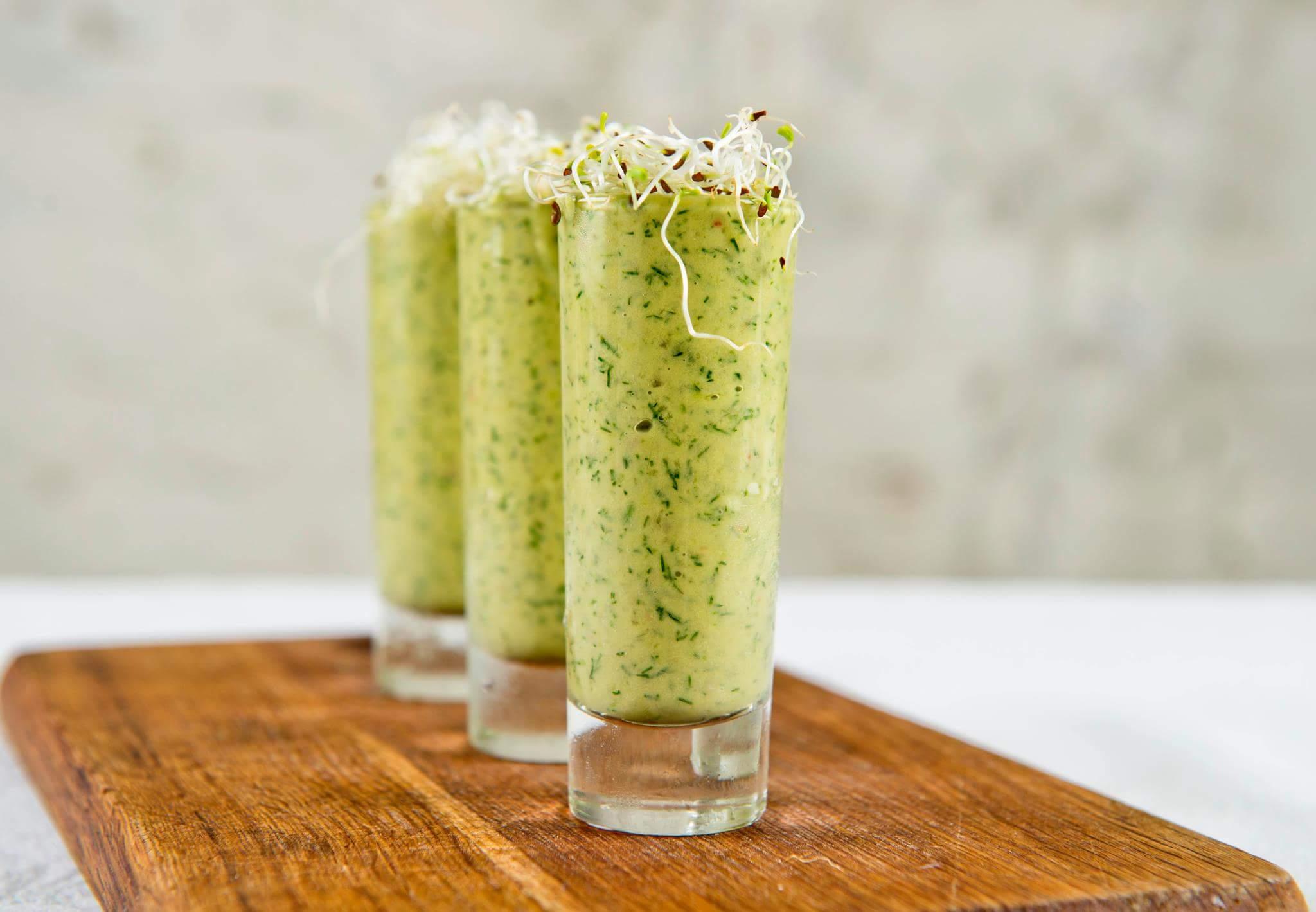 Рецепт Шот с зеленым помидором и сельдью