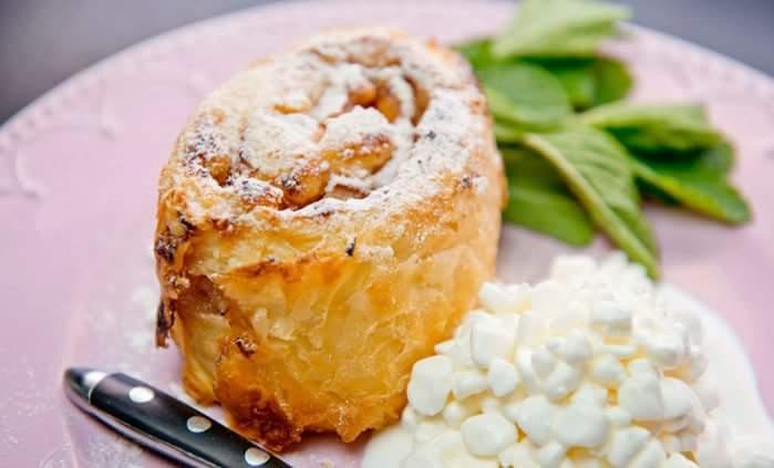 Рецепт Штрудель с грушей и сухофруктами