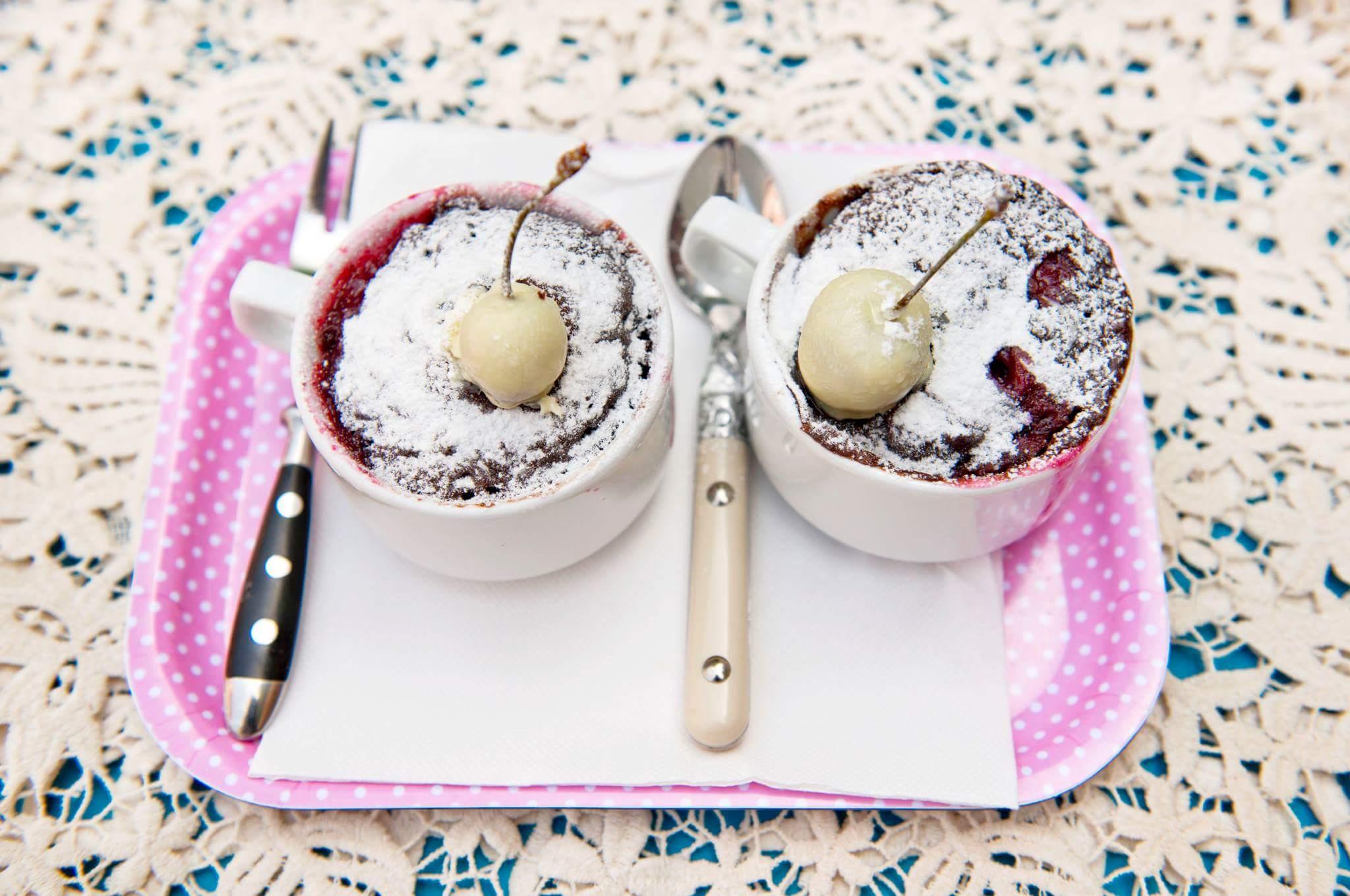 Рецепт Шоколадный кекс в чашке