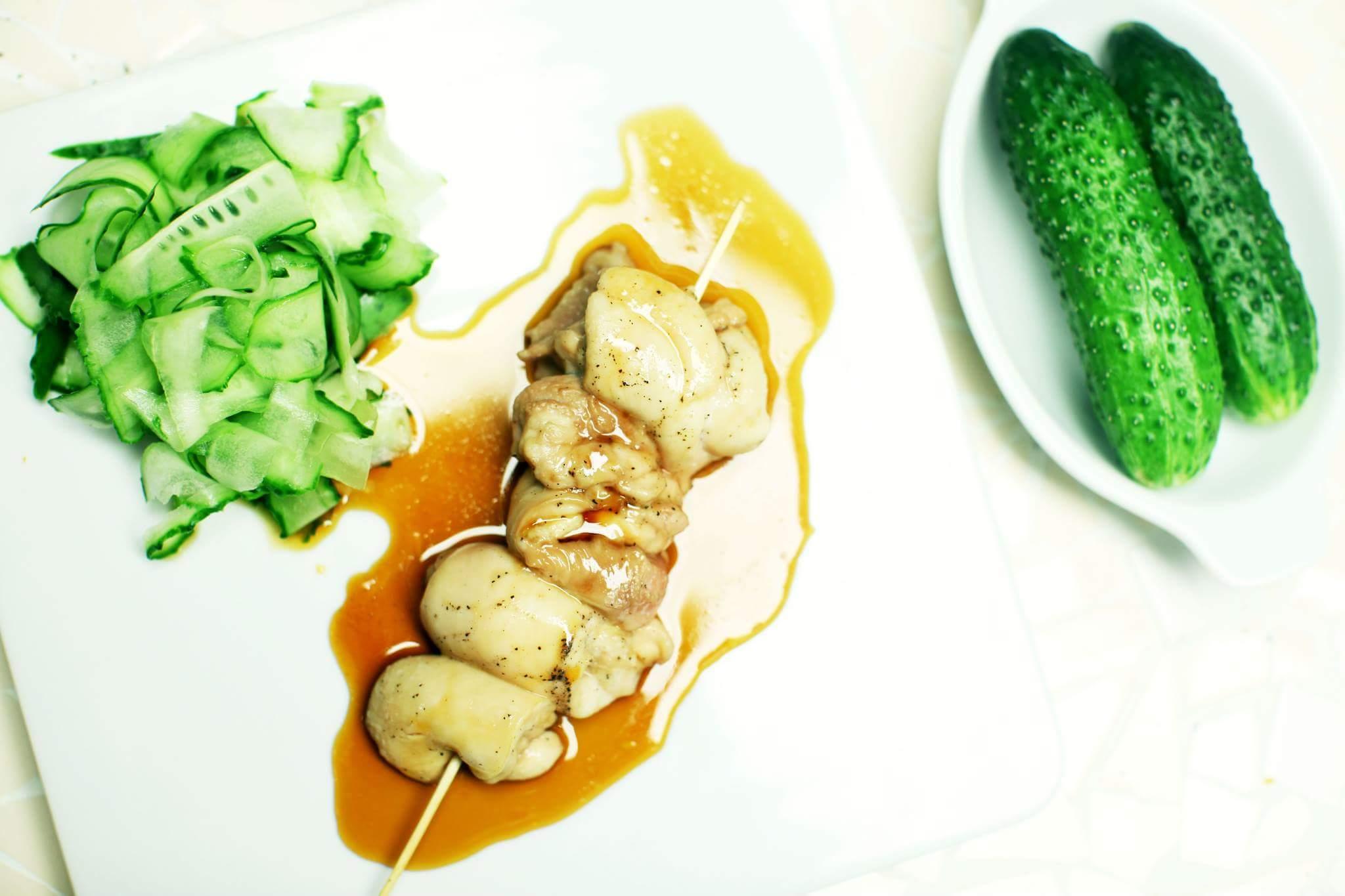 Куриные шашлычки с соусом якитори