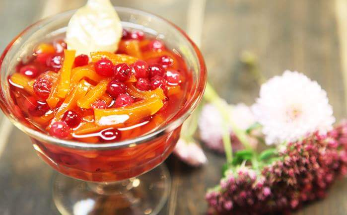 Рецепт Варенье из тыквы и клюквы