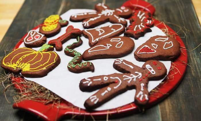 """Рецепт """"Страшное"""" печенье на Хэллоуин"""